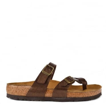Mayari Graceful Toffee Cross Strap Sandal