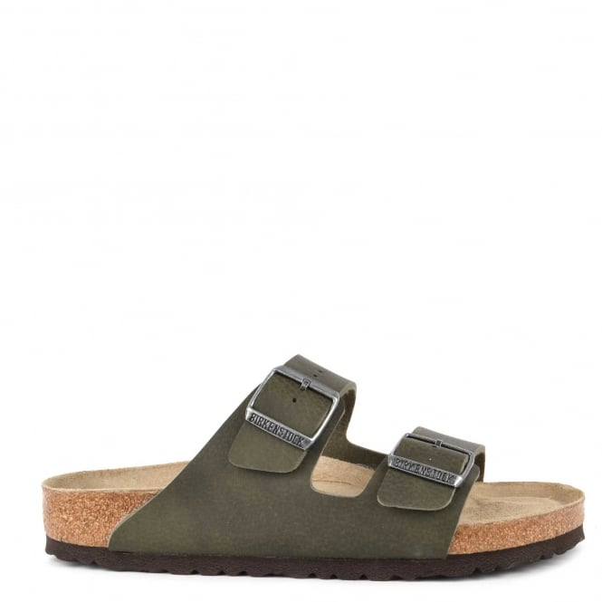 Birkenstock Mens' Arizona Desert Soil Green Two Strap Sandal