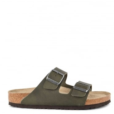 Mens' Arizona Desert Soil Green Two Strap Sandal