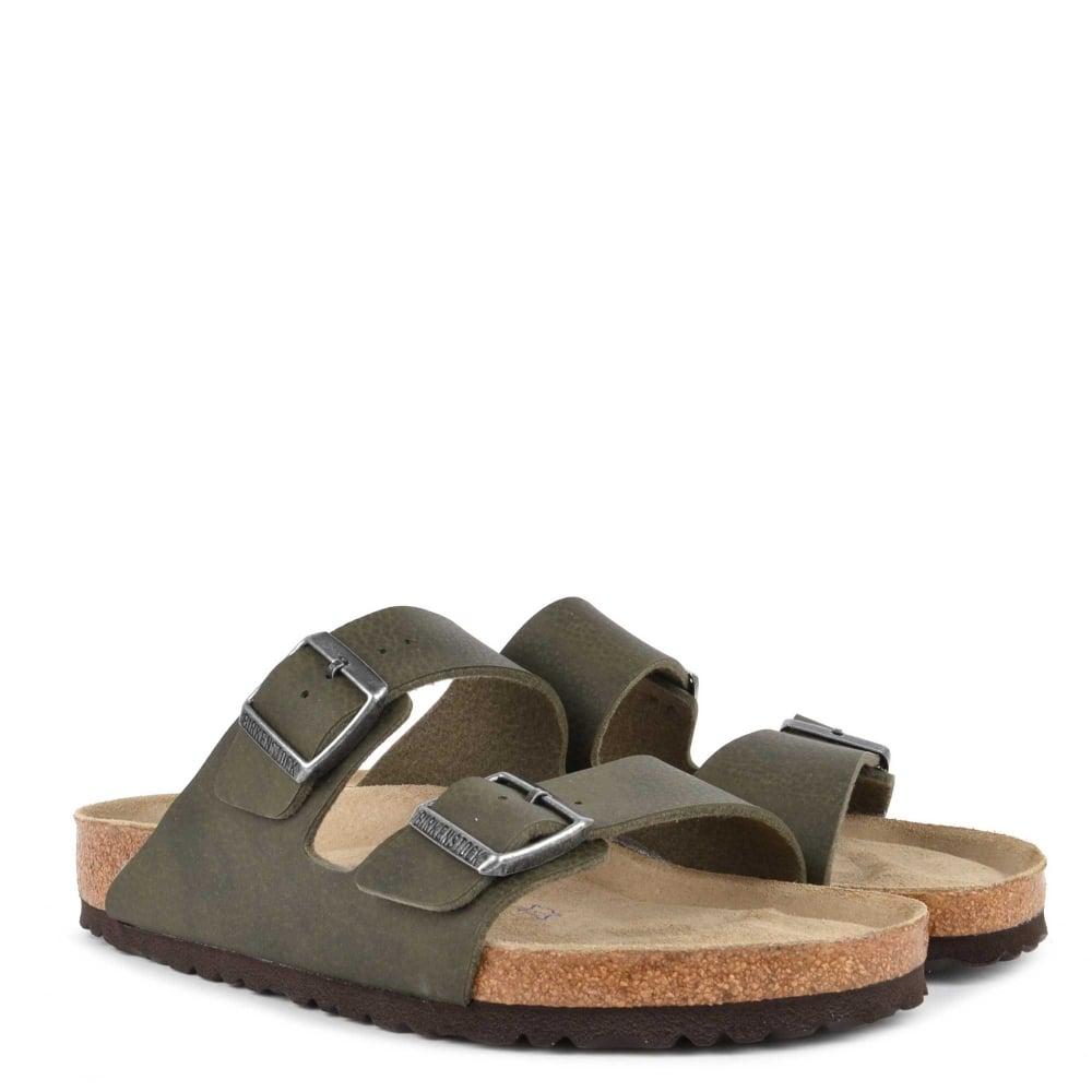 3d34d6e917a Birkenstock Mens' ARIZONA Desert Soil Green Two Strap Sandal