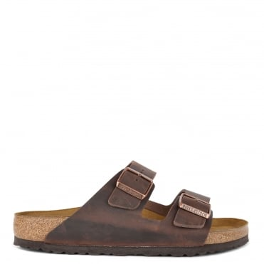 Mens' Arizona Habana Oiled Leather Two Strap Sandal