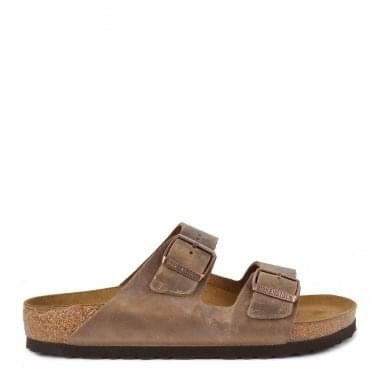 Mens' Arizona Tobacco Brown Two Strap Sandal