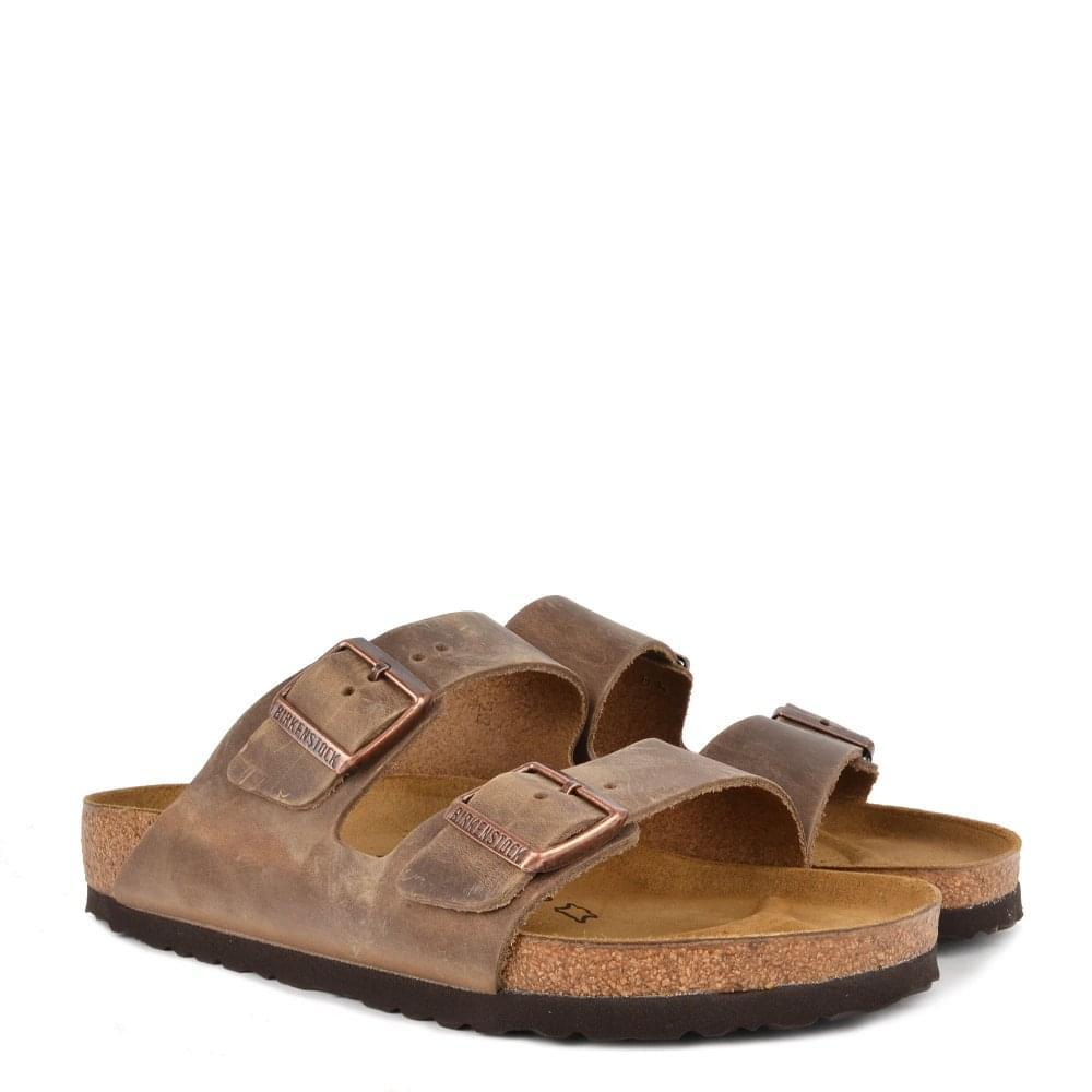 b0dc4a75468e Birkenstock Mens  Arizona Tobacco Brown Two Strap Sandal