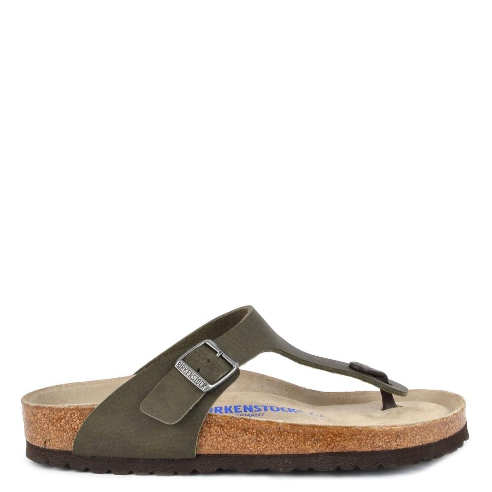 873611cba55b Birkenstock Mens  Gizeh Desert Soil Green Thong Sandal