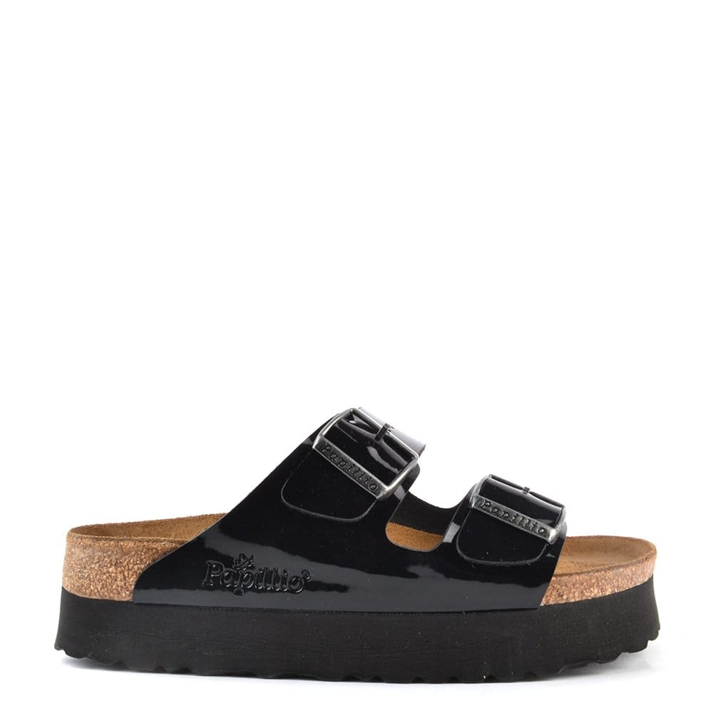 Papillio Arizona Black Platform Sandal