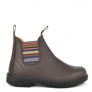 Kids' 1413 Walnut Leather Stripe Boot