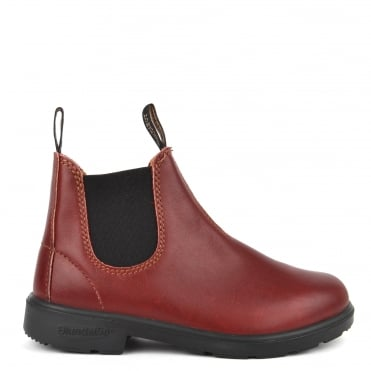 Kids' 1419 Burgundy Rub Leather Boot