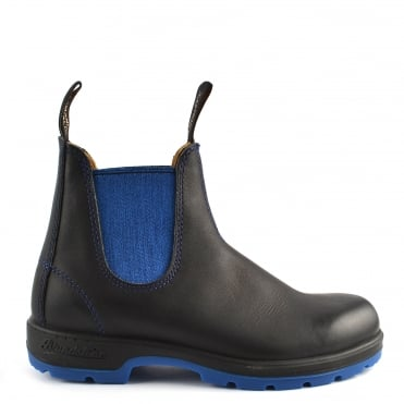 Unisex 1403 Black and Blue Voltan Leather Boot