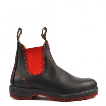 Womens' 1316 Red and Black Leather Boot