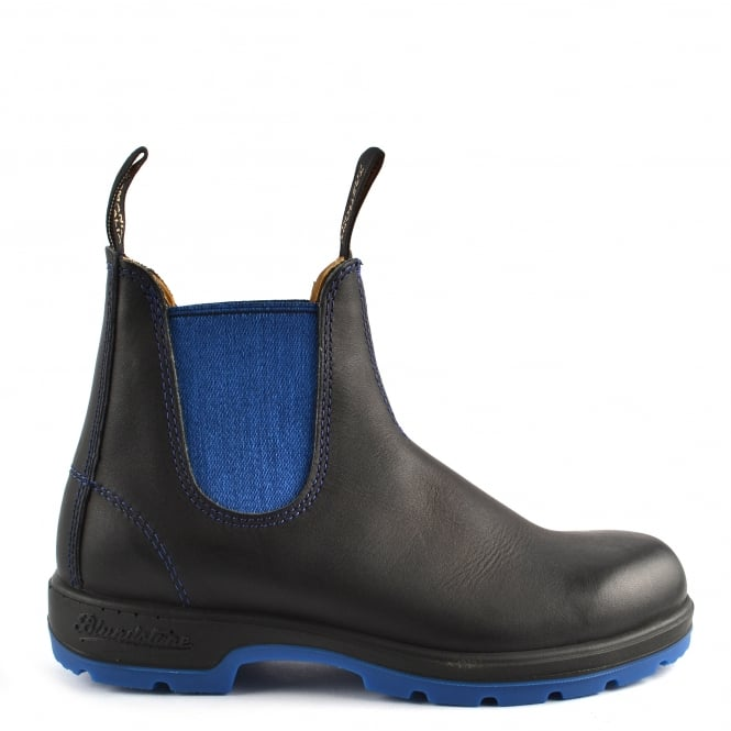Blundstone Womens' 1403 Black and Blue Voltan Leather Boot