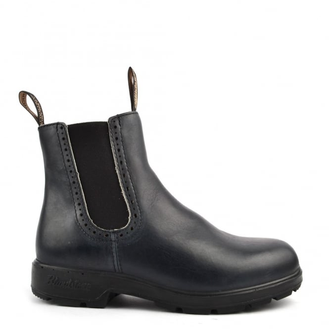 Blundstone Womens' 1441 Punch Hole Navy Leather Boot