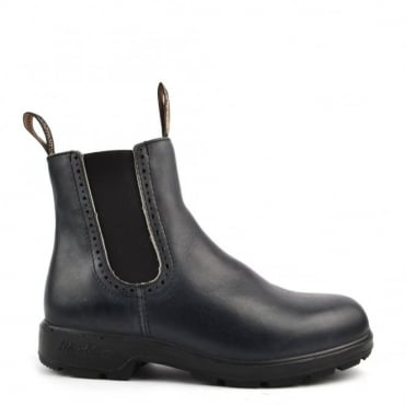 Womens' 1441 Punch Hole Navy Leather Boot