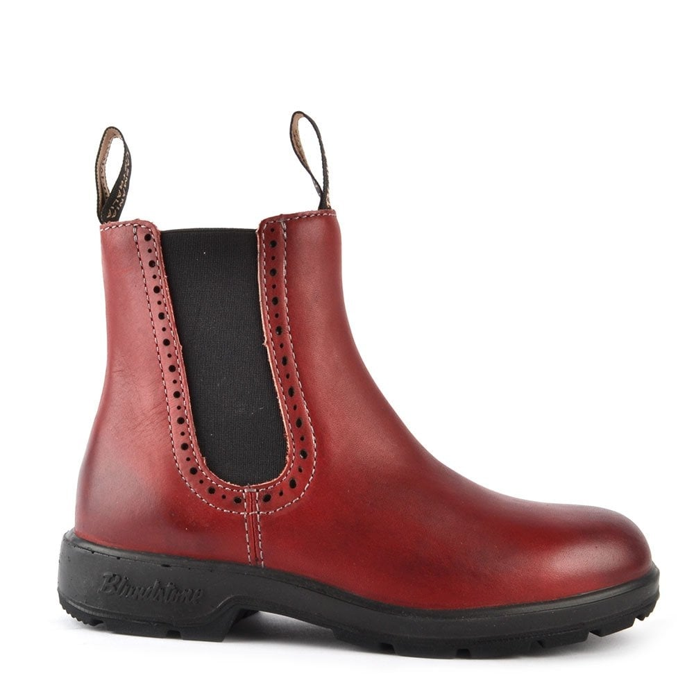 Blundstone Womens 1443 Punch Hole Burgundy Leather Boot