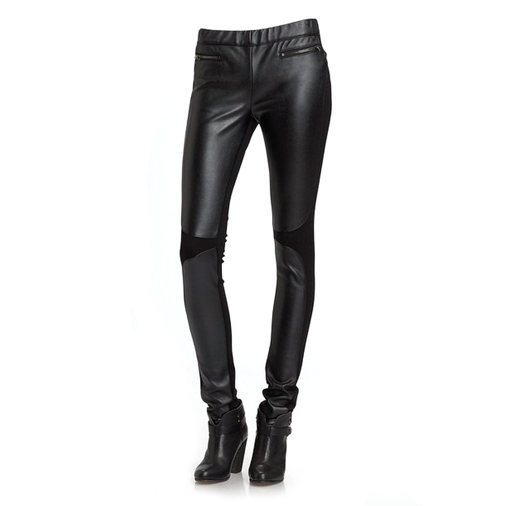 Buy By Zoe Basta Leggings | Basta Black Leather Panelled