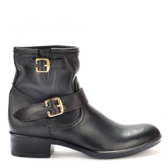 Campo Dei Fiori Black Leather Ankle Boot