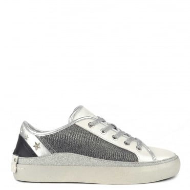 Ayama Stars Gunmetal and Silver Studded Trainer