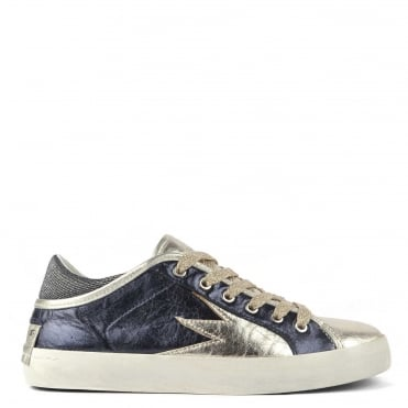 Navy Crime London Flat Trainers 4ae5ca4aa25