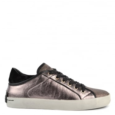 Faith Lo Metallic Pewter Trainer