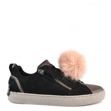 Java Lo Black and Pink Pom Pom Trainer