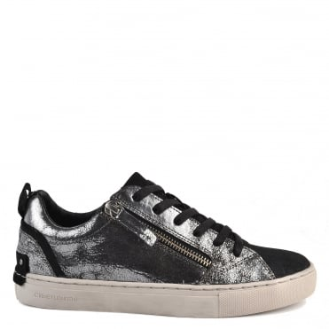 Java Lo Metallic Silver Trainer