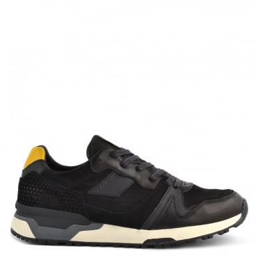 Mens' Escape Black Suede and Leather Trainer