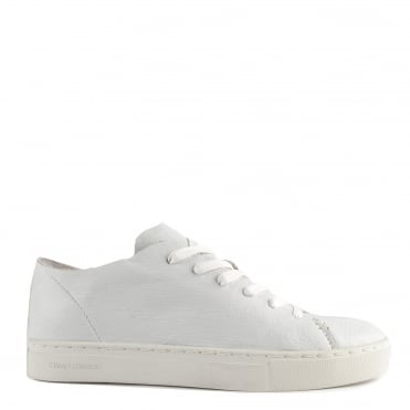 Raw Lo Edge White Leather Low Top Trainer