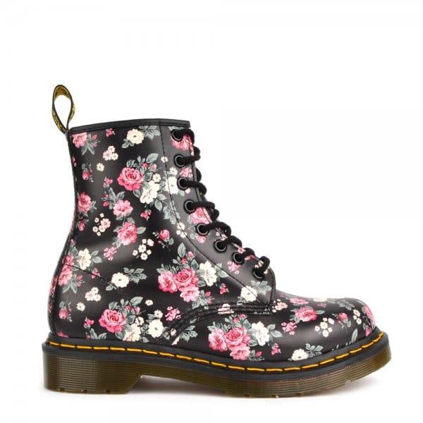Dr Martens 1460 Vintage Rose Black Lace Up Boot