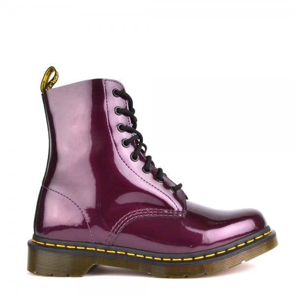 48782fe57f4 Pascal Violet Spectra Patent Lace Up Boot