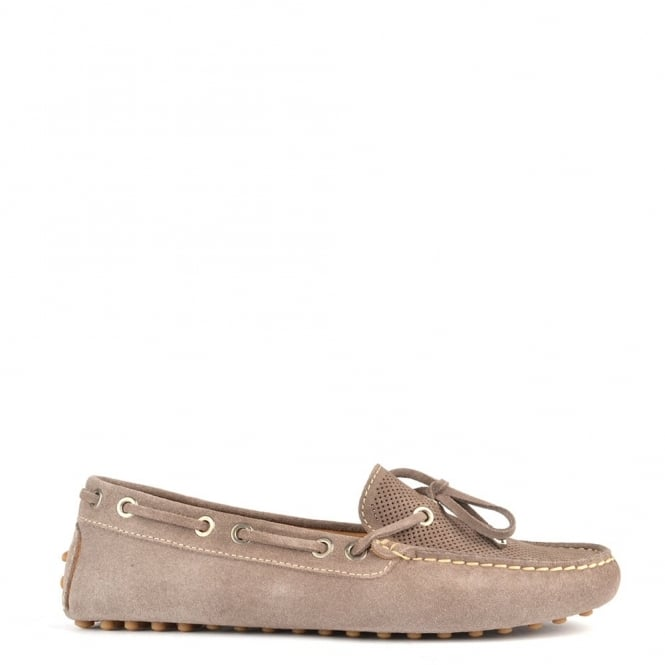 Elia B Shoes Aero Taupe Suede Loafer