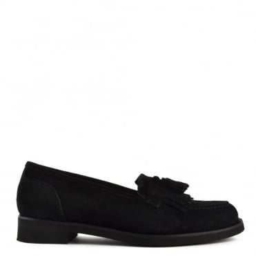 Alpha Black Suede Loafer