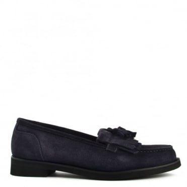 Alpha Navy Suede Loafer