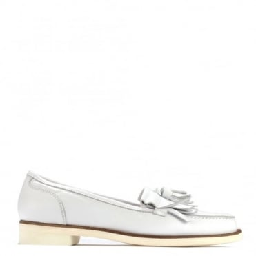 Alpha White Leather Loafer