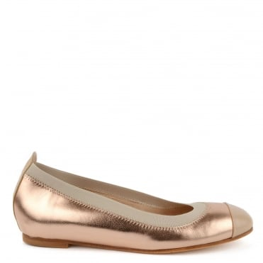 Bananas Rose Gold Ballet Pump