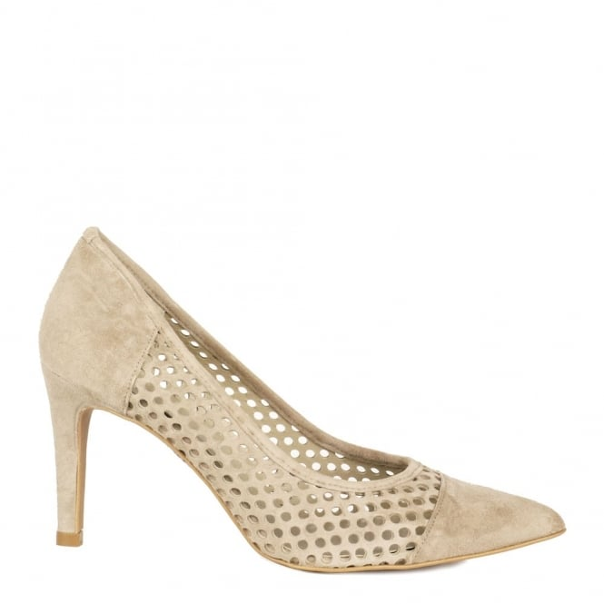 Elia B Shoes Caroline Stone Laser Cut Heeled Pump