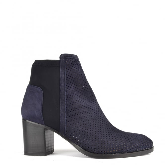Elia B Shoes Easy City Blue Suede Ankle Boot