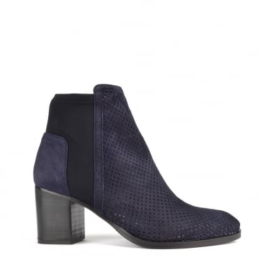 Easy City Blue Suede Ankle Boot