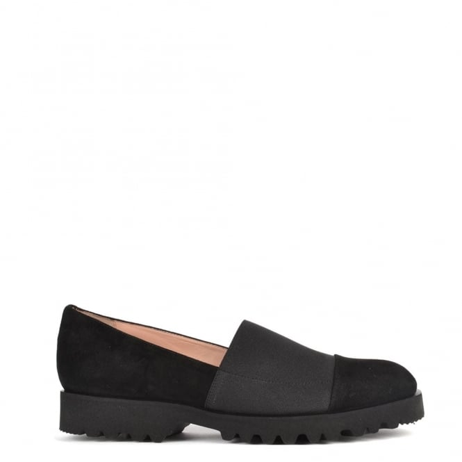 Elia B Shoes Easy Track Black Suede Loafer