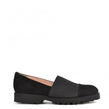 Easy Track Black Suede Loafer