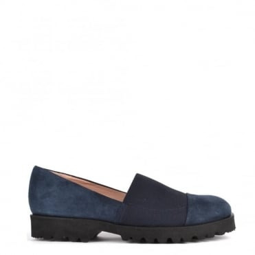 Easy Track Blue Suede Loafer