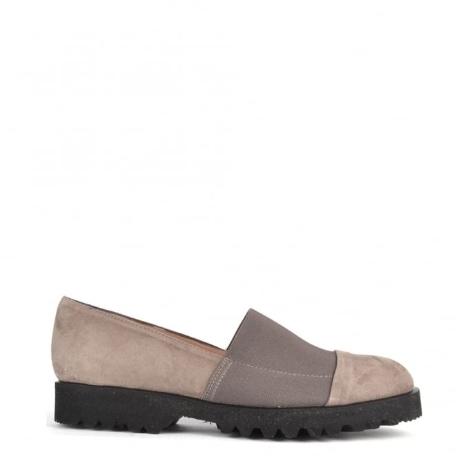 Elia B Shoes Easy Track Taupe Suede Loafer