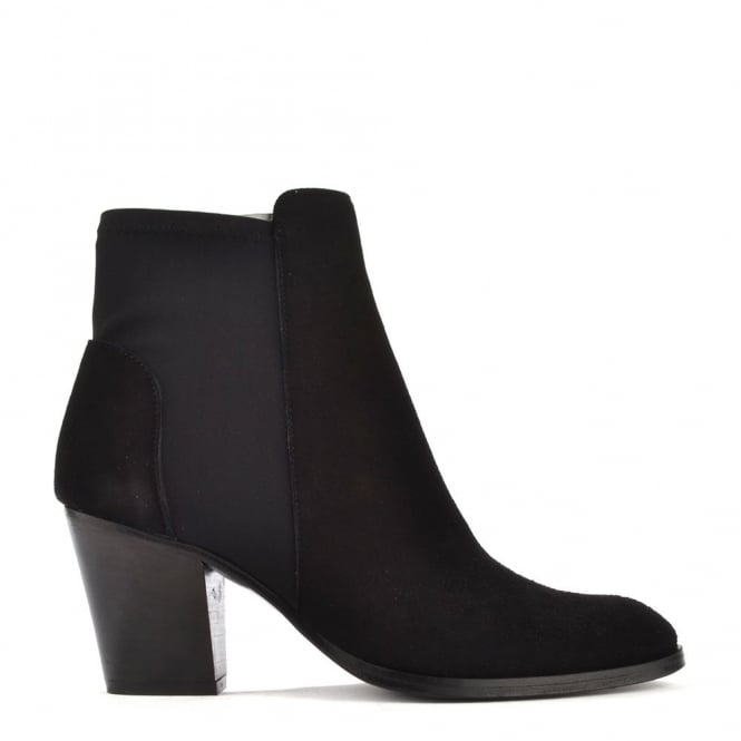 Elia B Shoes Elastic City Black Stretch Ankle Boot