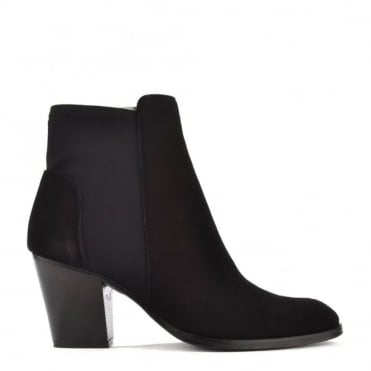 Elastic City Black Stretch Ankle Boot