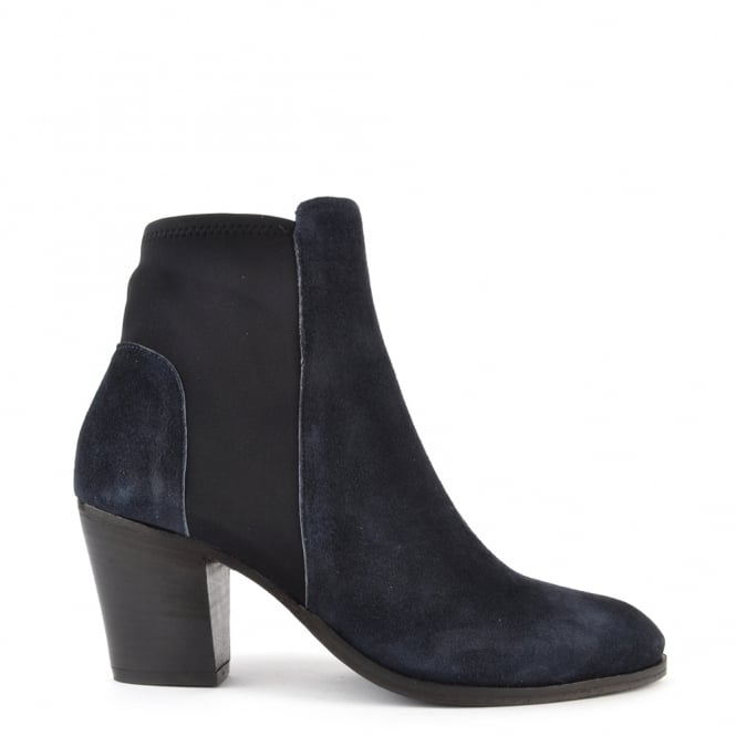 Elia B Shoes Elastic City Blue Stretch Ankle Boot