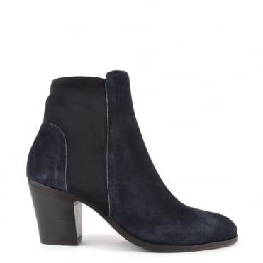 Elastic City Blue Stretch Ankle Boot