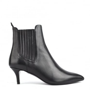 Fop Black Leather Heeled Boot