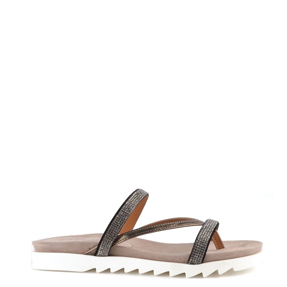 e964b68c6 Elia B Shoes Glitzy Canna Flat Sandal