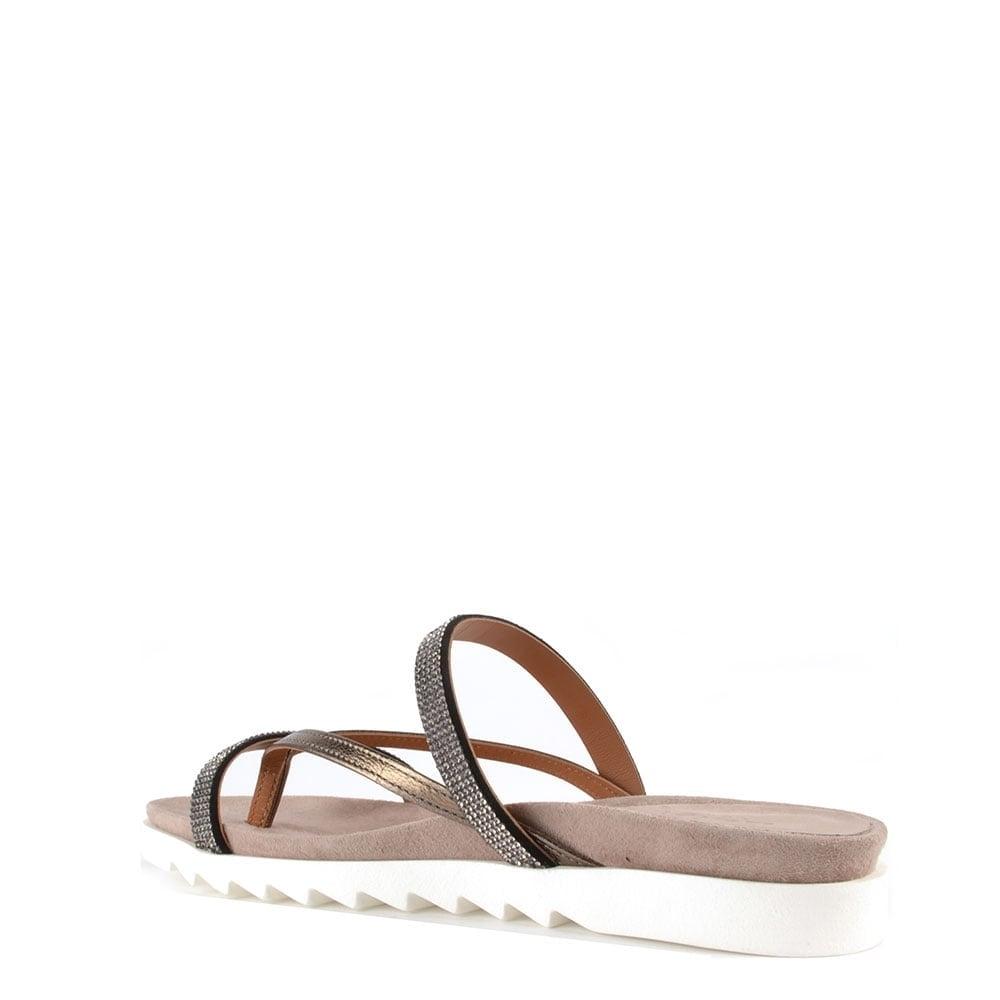 f92577e7b Elia B Glitzy Canna Flat Sandal