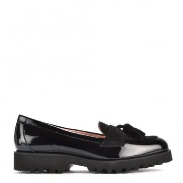 High Track Black Patent Loafer