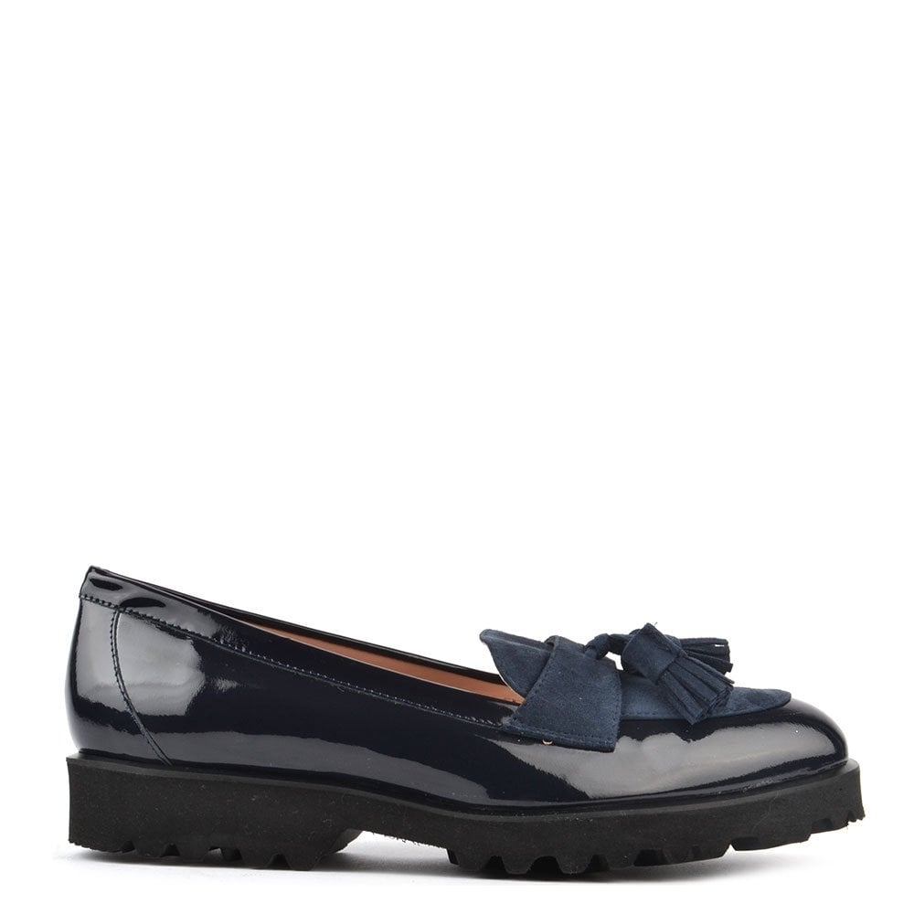 ba546b468a8 Elia B Shoes High Track Navy Patent Track Loafer - Women from Brand ...