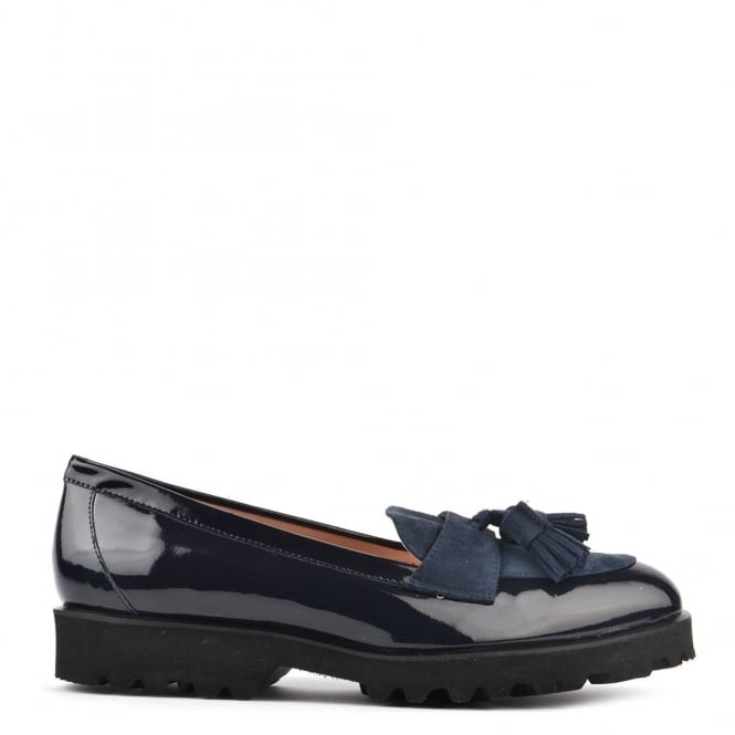 Elia B Shoes High Track Navy Patent Track Loafer